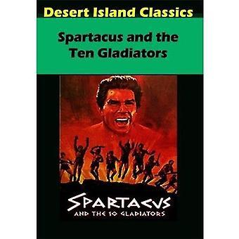 Spartacus / Ten Gladiators [DVD] USA import