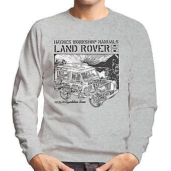 Haynes Besitzer Workshop Manual Land Rover Sonnenuntergang schwarz Herren Sweatshirt