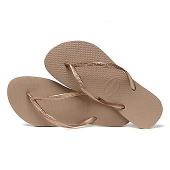 Havaianas Slim Women's Flip Flops - Rose Gold