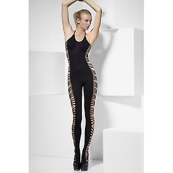 Catsuit With Open Sides-Black
