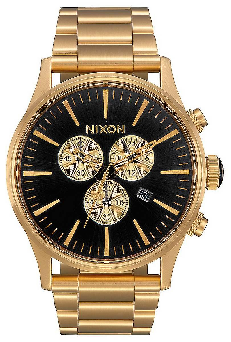 nixon die sentry chrono uhr gold schwarz fruugo. Black Bedroom Furniture Sets. Home Design Ideas