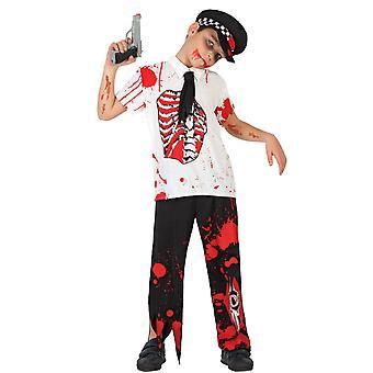 Infantiles disfraces a niño de policía Zombie
