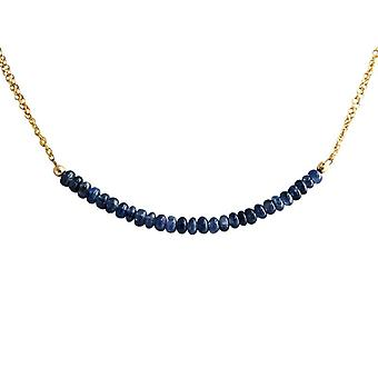Sapphire Sapphire necklace Sapphire ketting verguld
