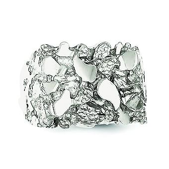 Sterling Silver Mens Nugget Ring - Ringmaat: 9 t/m 11
