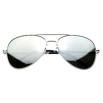 FULL MIRROR Mirrored Metal Aviator Sunglasses