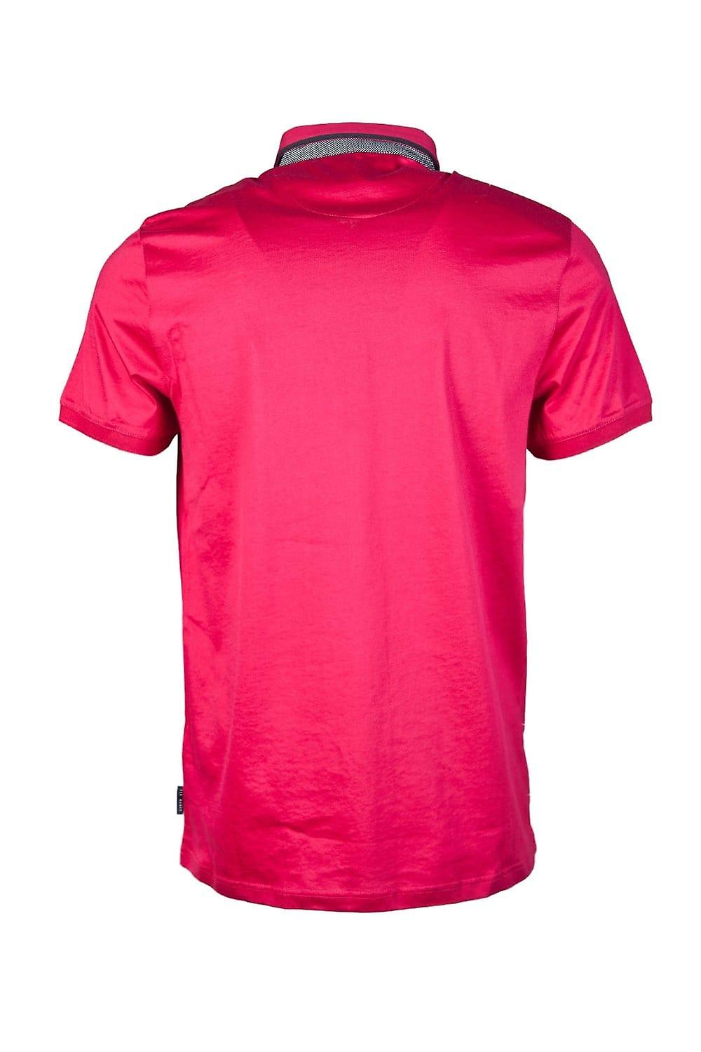 Ted Baker Ted Baker Button-Down Polo Shirt In Pink TS5M/GB33/BANNYAN-54