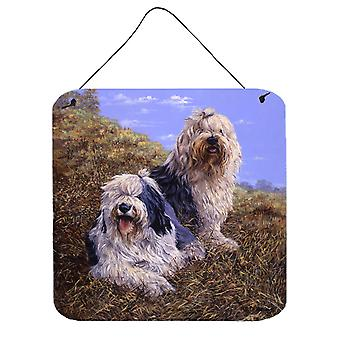 Old English Sheepdogs by Michael Herring Wall or Door Hanging Prints