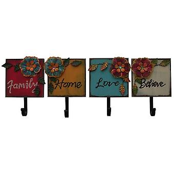 Superstudio Hangers Decorative Flowers set 4 pieces Wood and Metal