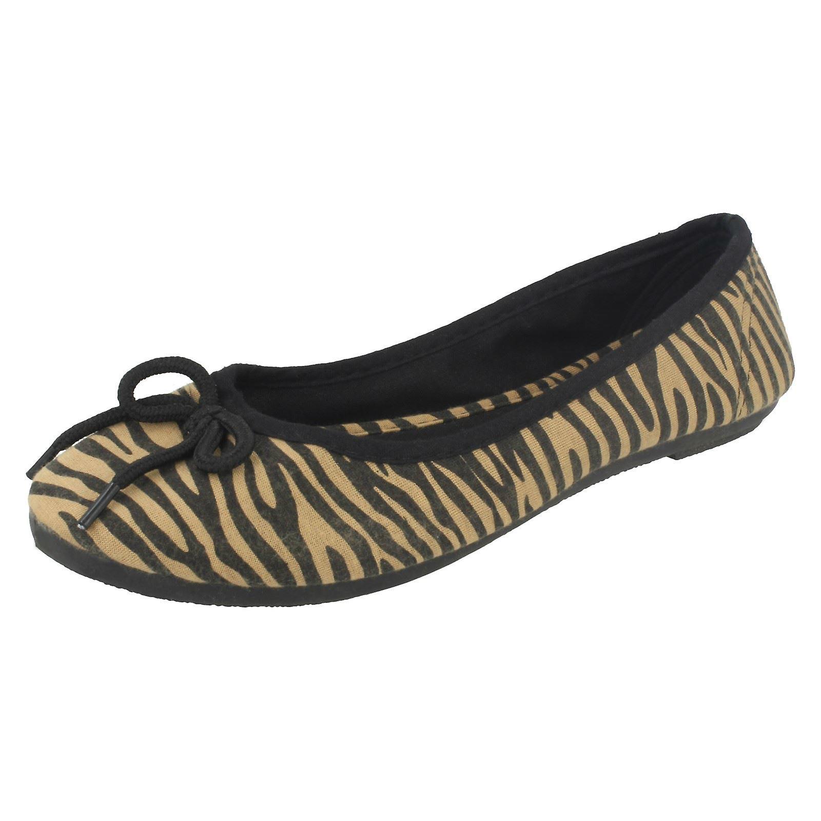 On Bow Ballerina Vamp Flat On Slip Ladies Spot F8794 qYzFTxp