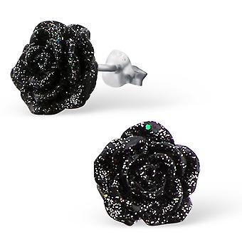 Rose - 925 Sterling Silver Colourful Ear Studs