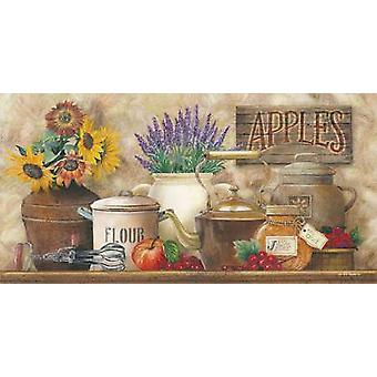 Antique Kitchen Poster Print by Ed Wargo (18 x 9)