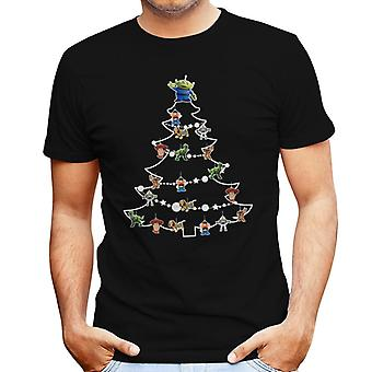 Toy Story Characters Christmas Tree Baubles Men's T-Shirt