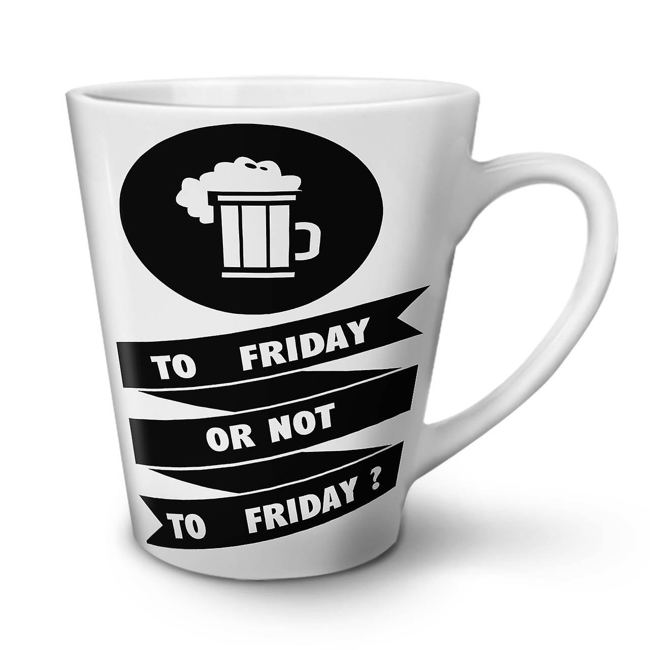 Latte Vendredi Bière 12 En Céramique De Nouvelle Boire Tasse Café Blanche OzWellcoda JFKT1lc