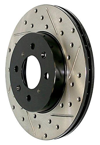 StopTech 127.61062R Sport Drilled Slotted Brake rougeor (Rear Right), 1 Pack