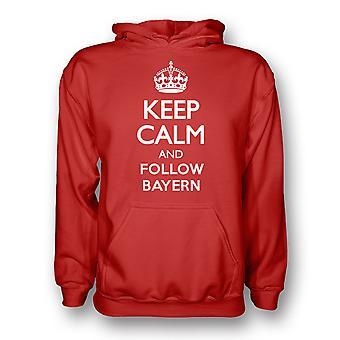Garder calme et suivre Bayern Munich Hoody (rouge)