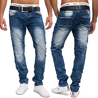 Men's Jeansnet used look jeans Nr. 1603 tapered slim fit denim Pant stone washed