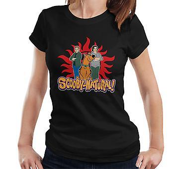 Camiseta de sobrenatural Scooby Doo juego de palabras Scoobynatural las mujeres