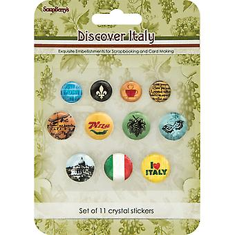 Scrapberry's Discover Italy Crystal Stickers-  53000005