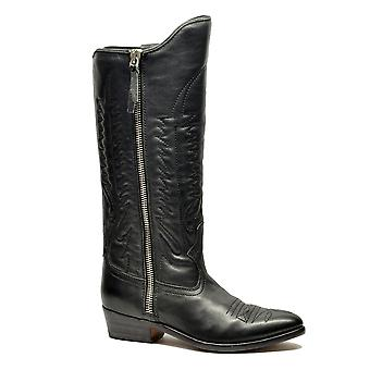 Golden Goose women's G31WS396A2 black leather boots