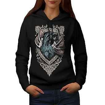 Dood Dragon beest vrouwen BlackHoodie | Wellcoda
