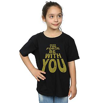 Star Wars Girls May The Force Be With You T-Shirt