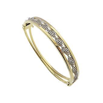 Bicolor Golden slave bracelet