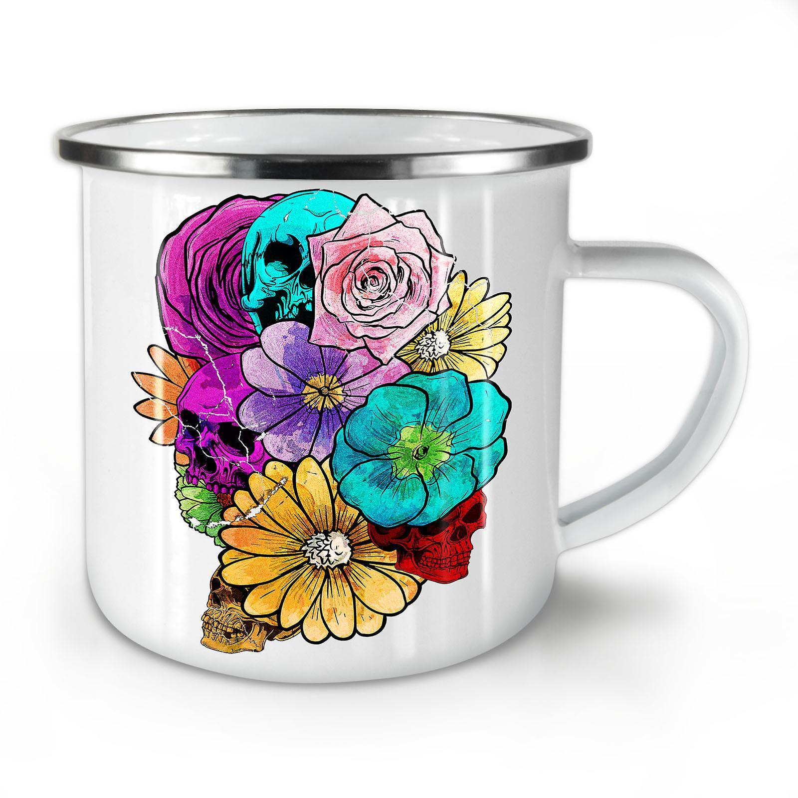 Rock Mug10 Death Enamel Flower Whitetea OzWellcoda New Coffee c5Rq3A4jL