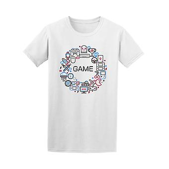 Game Lovers, Gadgets Collage Tee Men's -Image by Shutterstock