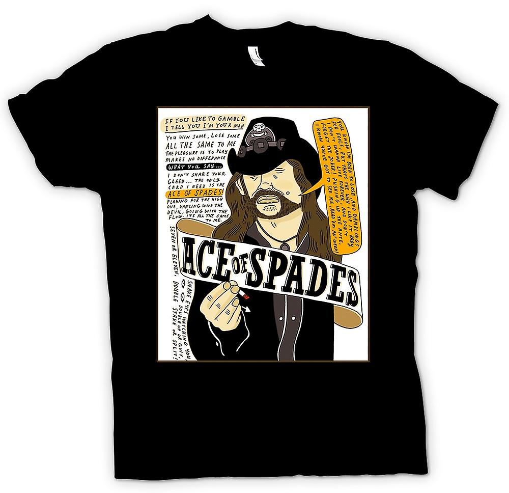 Mens T-shirt - Motorhead - Ace Of Spades - Cartoon