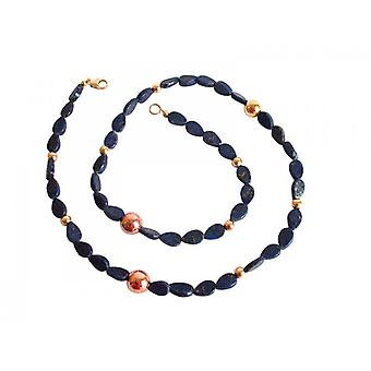 Lapis lazuli necklace necklace gold plated chain CORDELIA