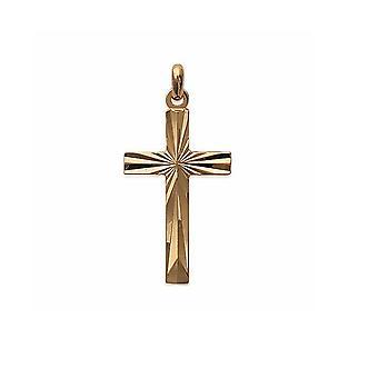Hanger vrouw - Man cross in geelgoud verguld