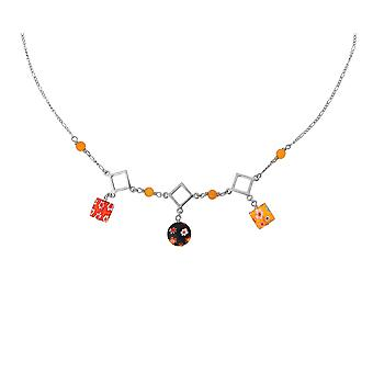 Orphelia Silver 925  Necklace 43Cm With Colered Stones  ZK-2584