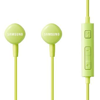 Original EO-HS1303GEG Samsung stereo in ear headset with remote control - green blister