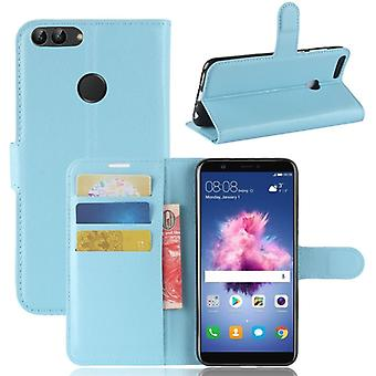 Pocket wallet premium Blue for Huawei enjoy 7S / P smart protection sleeve case cover pouch new