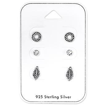Leaf Set - 925 Sterling Silver + Crystal Sets