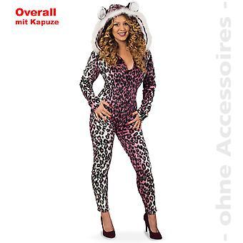 Leopard kombinezon kaptur własnych Leo kostium damski damskie Snow Leopard kostium