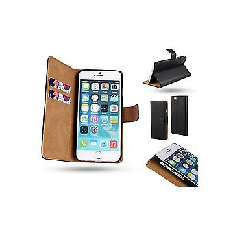 iPhone 6 +/6S Plus wallet carrying case in genuine leather