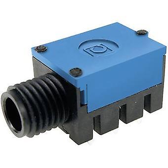 Cliff FC67810 6,35 mm ljudutgång uttag, horisontella mount antal stift: 3 Stereo Blue 1 dator
