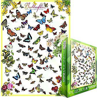 Fjärilar 1000 bit pussel