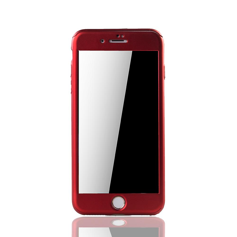 Apple iPhone 8 plus mobile case protection-case full cover tank protection glass Red