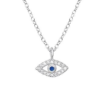 Evil Eye - 925 Sterling Silver Jewelled Necklaces