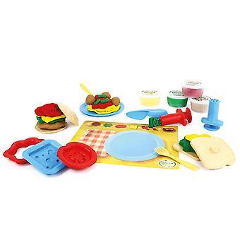 Green Toys 19 stykke måltid Maker dejen sæt - Doh formning, modellering spil sæt