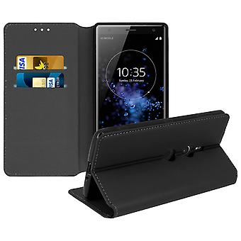 Slim Case, Classic Edition stand case with card slot for Sony Xperia XZ2 - Black