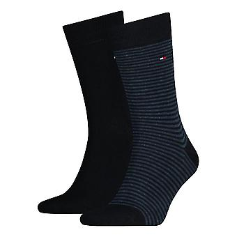 Tommy Hilfiger Striped Socks 2-Pack - Dark Navy