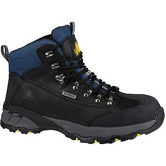 Amblers Safety Mens FS161 Leather Waterproof Safety Boots Black