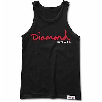 Diamond Supply Co Og Script Tank Black