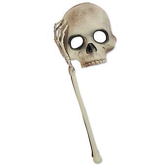 Semi-maschera con mano maschera teschio Halloween