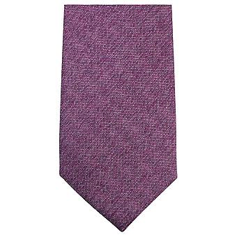 Knightsbridge corbatas llano tejido Tie - púrpura