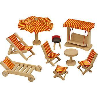 Maison de poupée de meubles de jardin