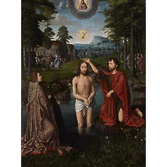 معمودية السيد المسيح، ديفيد جيرارد، 50x40cm